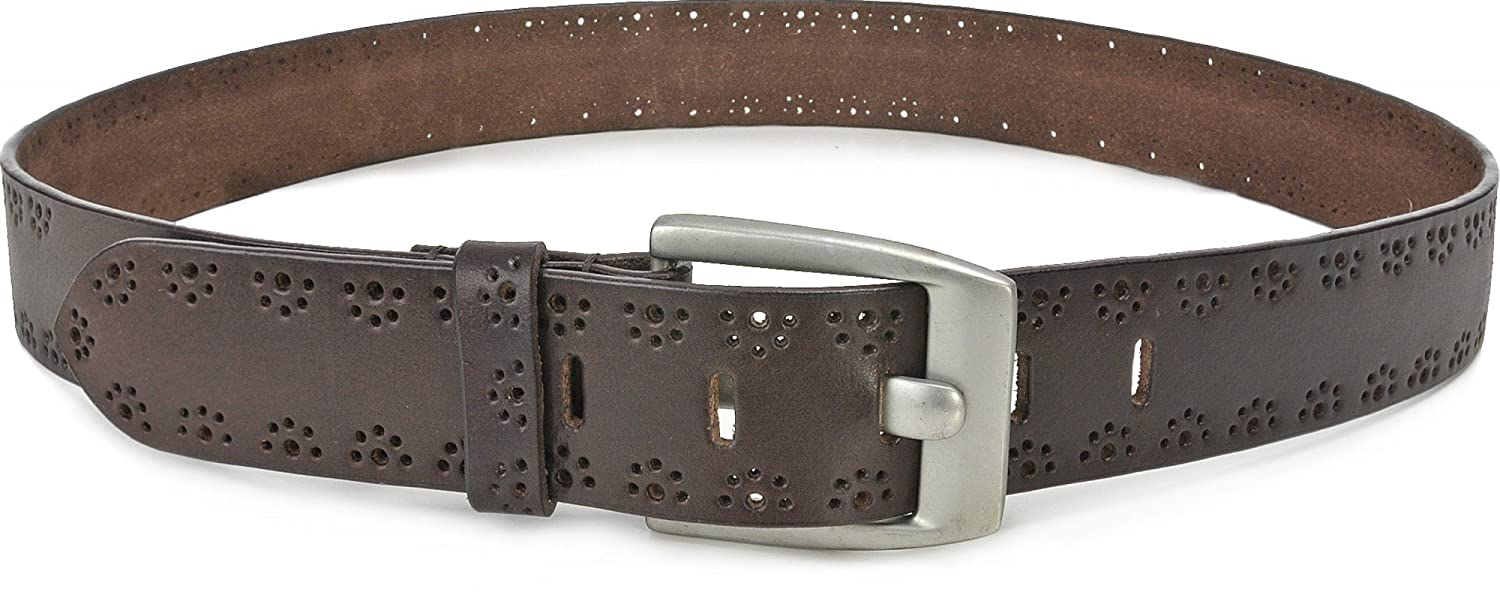 URBAN FOREST Womens Belt With Perforation Leather, Mens Belt