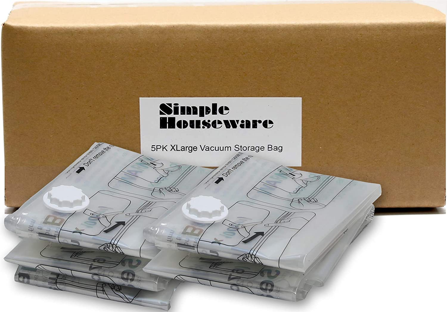 4 X LARGE SPACE SAVING STORAGE VACUUM BAGS CLOTHES BEDDING ORGANISER 310515