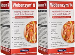 Wobenzym N 200 CNT Tablets 2 Pack
