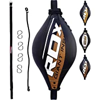 RDX Double End Speed Ball Maya Hide Leather Boxing Dodge Speed Bag Punching MMA Training Workout Floor to Ceiling Rope