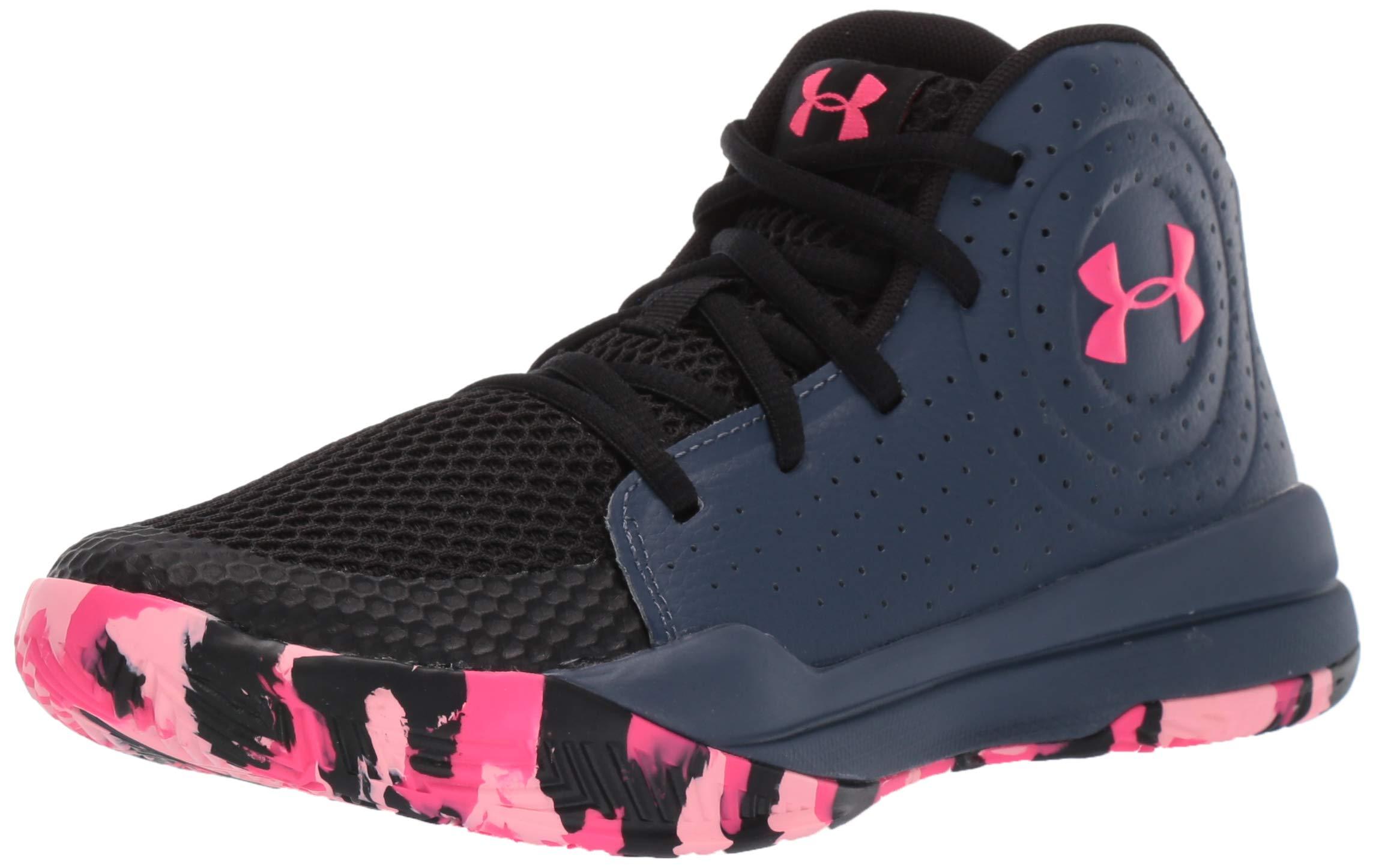 Under Armour Unisex Pre School Jet 2019 Basketball Shoe, Downpour Gray (403)/Black, 6.5 M US Big Kid