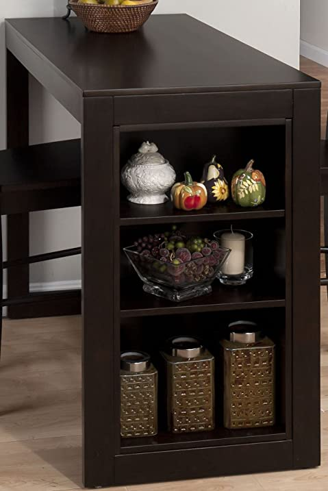 Jofran 810 48 Maryland Merlot Counter Height Table With 3 Shelves For  Storage
