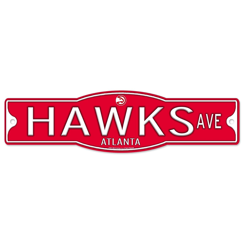 Atlanta Hawks 4' x 17' Plastic Street Sign NBA WinCraft