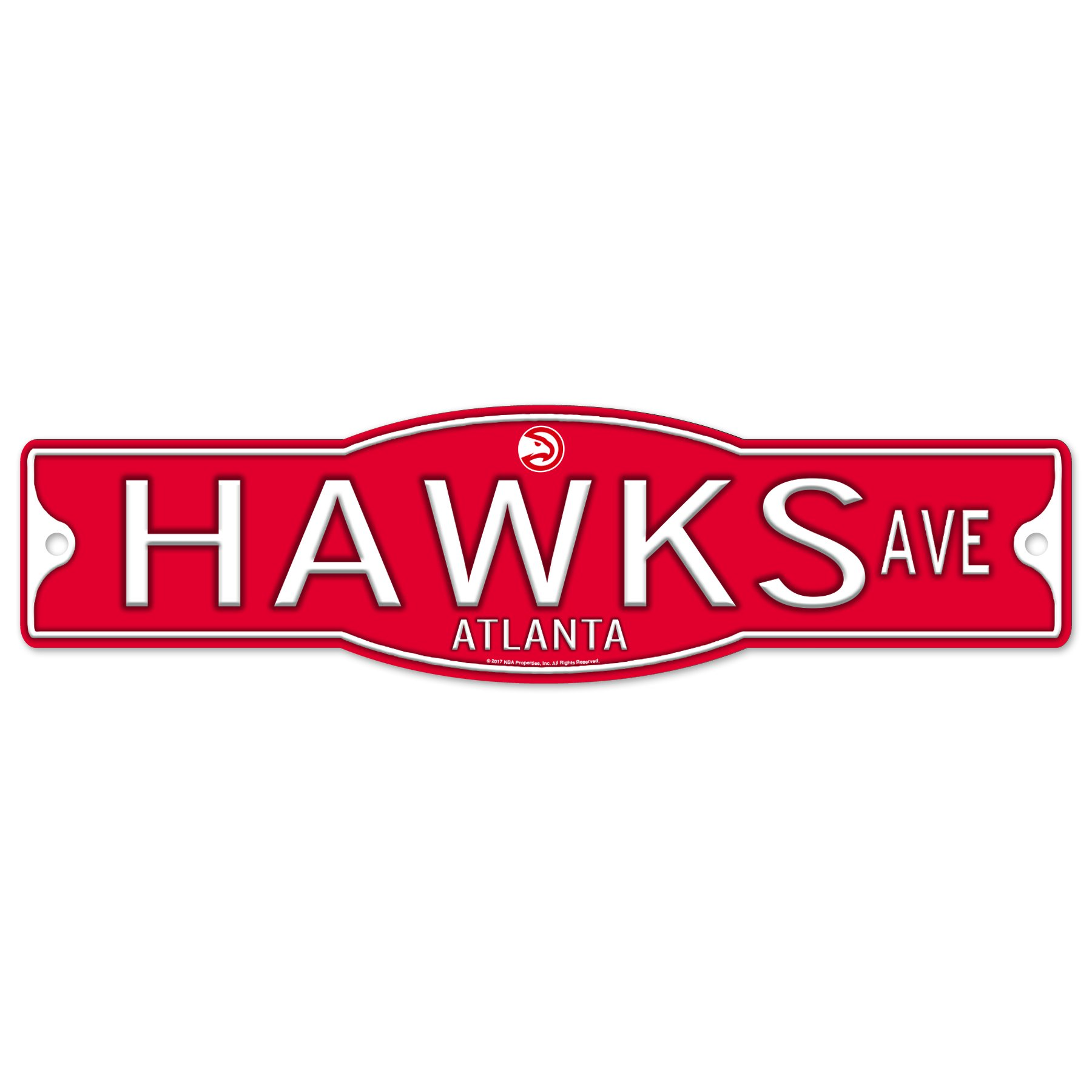 Atlanta Hawks 4'' x 17'' Plastic Street Sign NBA