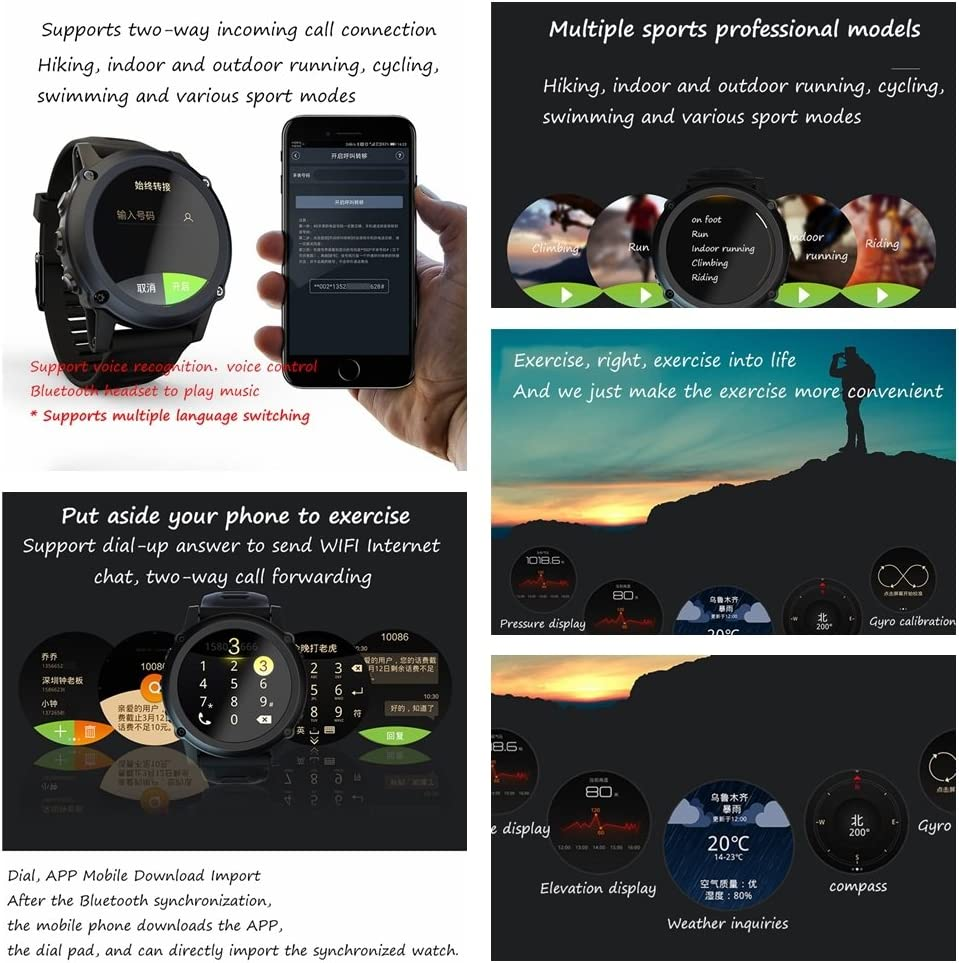 Amazon.com: QAR Smart Watch Mobile Phone Telecommunications ...