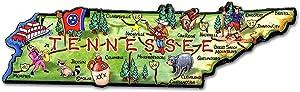 Tennessee the Volunteer State Artwood Jumbo Fridge Magnet