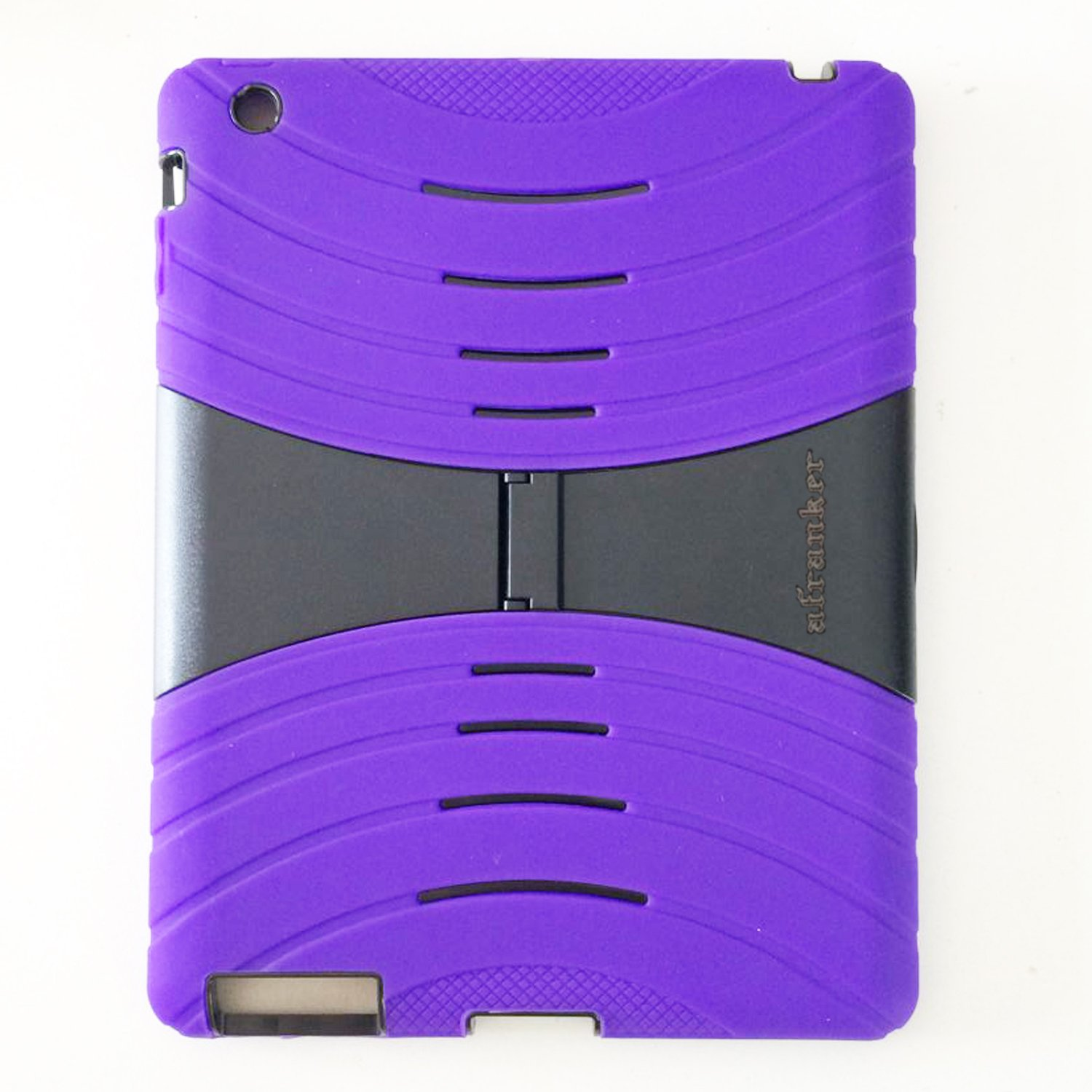 Afranker Ipad 2 / Ipad 3 / Ipad 4 Case Lightweight Shockproof Drop Resistance Rugged Silicone + Plastic 2 Layer Hybrid Defender Super Protection Case and Built-in Kickstand Purple RV Designer Collection S535