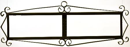 Image of ART ESCUDELLERS Soporte Marco metálico en Color Negro para Azulejos Letras/numeros/simbolos para el diseño Mosaico Mini (Soporte para 9 Piezas) 36,5 cm x 13 cm