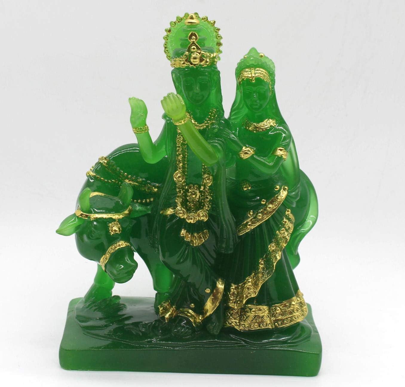 GANESH GREEN 7061 Shri Venilals GANESH GANESHA GREEN STATUE IDOL FIGURINE FOR HOME DECOR GIFT ITEM