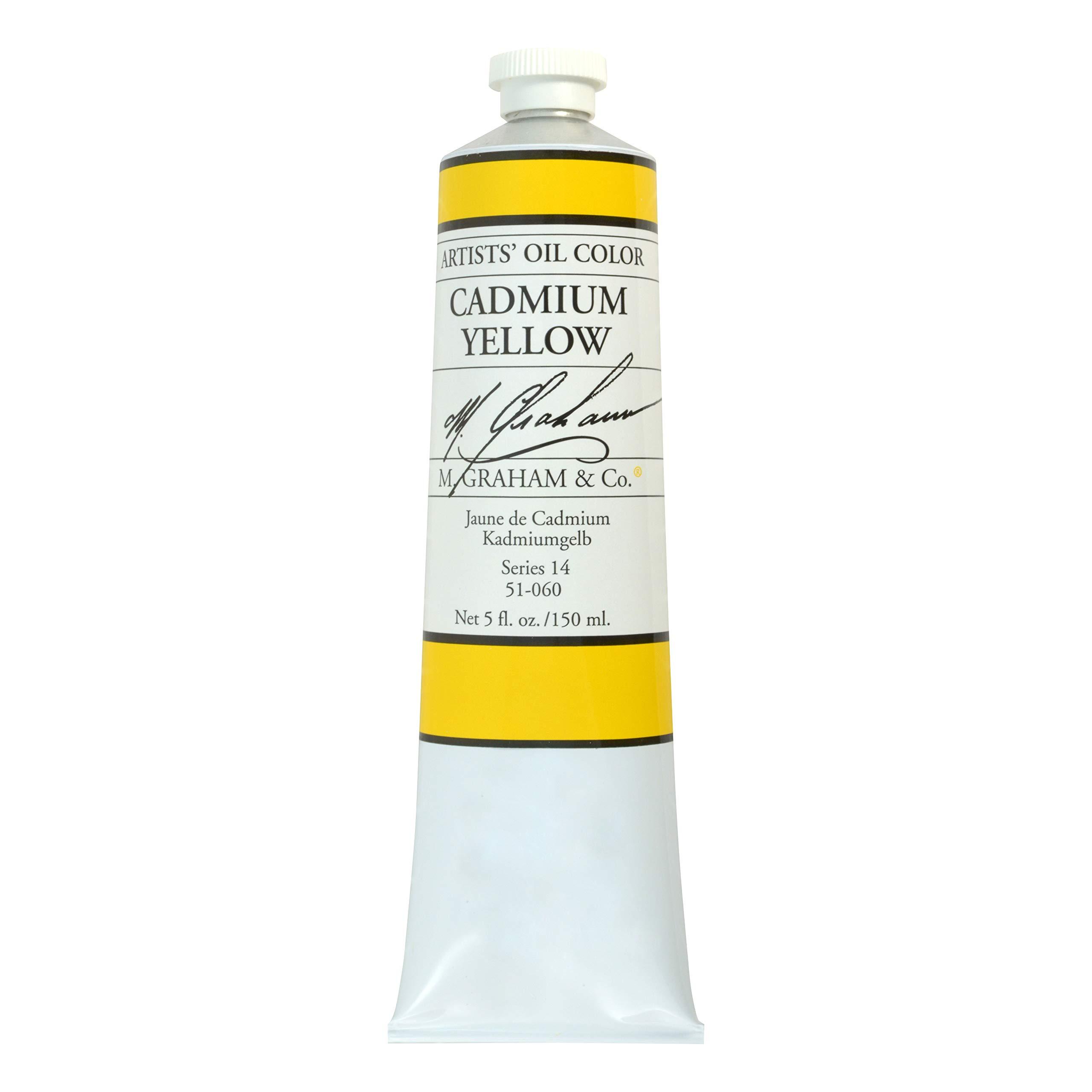 M. Graham Artist Oil Paint Cadmium Yellow 5oz Tube by M. Graham & Co.
