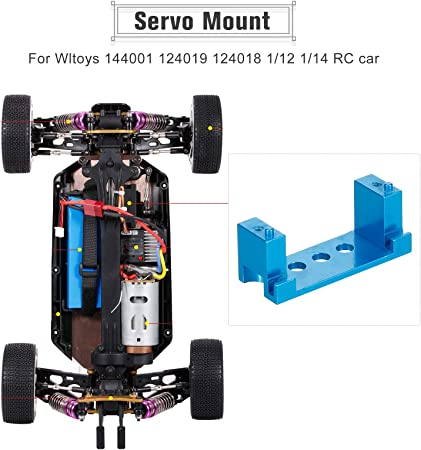 Dcolor RC Auto Servo RC Ersatz Teile Metall Gear Servo f/ür Wltoys 144001 RC Renn Auto
