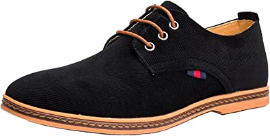 DADAWEN Chaussures de Ville Homme Oxfords à Lacets Derbies