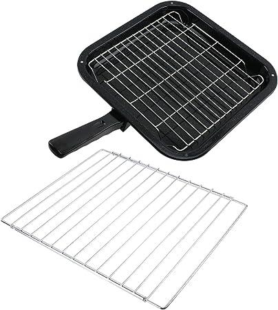 SPARES2GO pequeño sartén de parrilla, para y desmontable con mango bandeja ajustable para Electrolux para horno hornos de: Amazon.es: Hogar