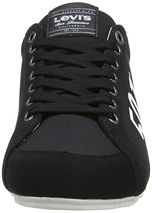 91cd83e8 Levi's Men's Morris 501 Low-Top Sneakers, Black, 42 EU: Amazon.co.uk: Shoes  & Bags
