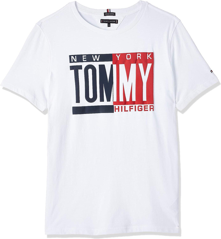 Tommy Hilfiger Puff Print tee S/S Camiseta para Niños: Amazon.es: Ropa y accesorios