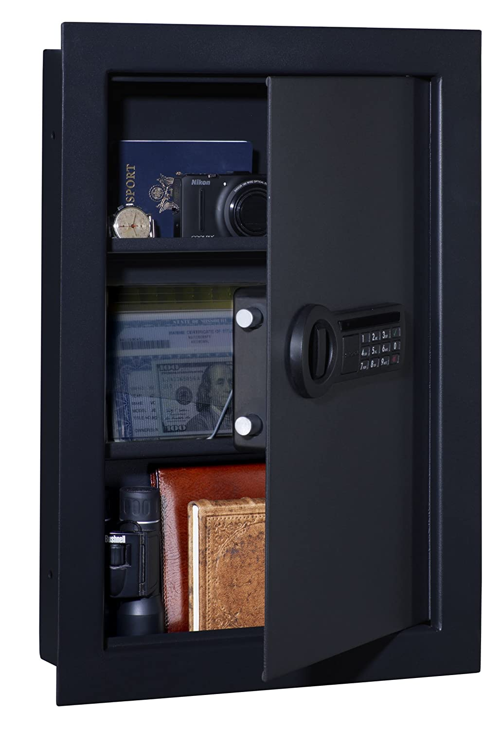 2. Stack-On Wall Safe with Electronic Lock
