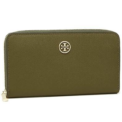 fa32f2118550 トリーバーチ 財布 アウトレット TORY BURCH 33650 303 レディース 長財布 無地 GREEN OLIVE 緑 [並行