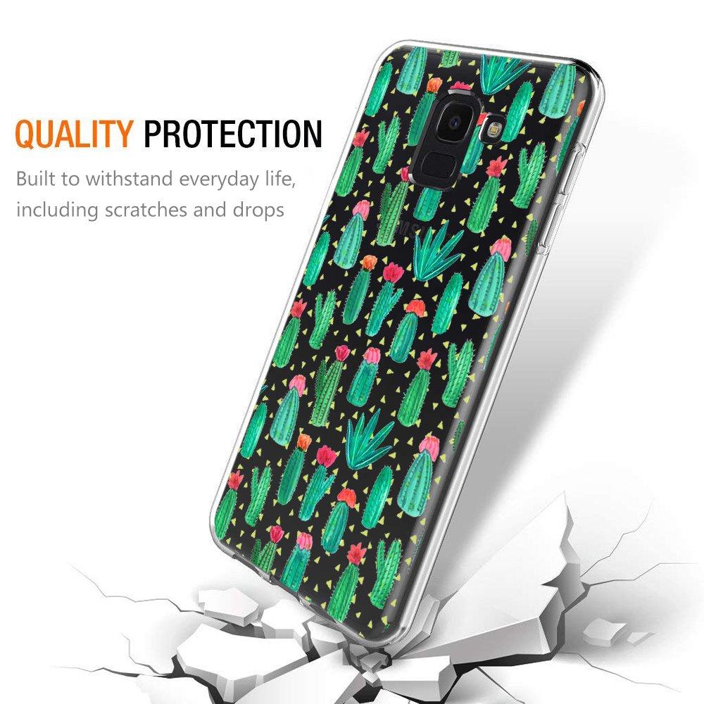 Funda Samsung Galaxy J6 2018, Eouine Cárcasa Silicona 3D Transparente con Dibujos Diseño Suave Gel TPU [Antigolpes] de Protector Bumper Case Cover Fundas ...