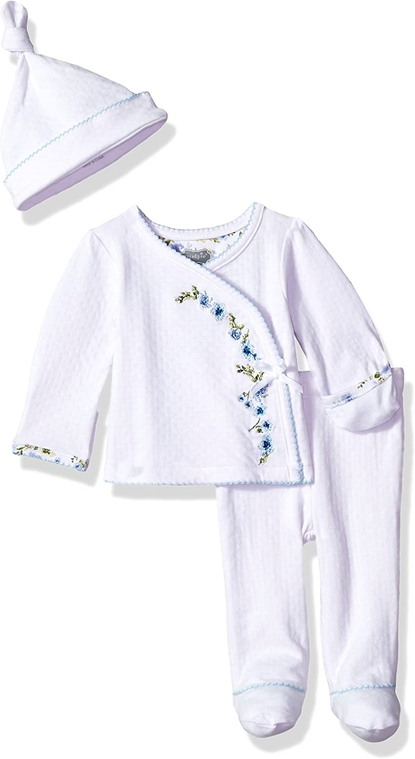 Mud Pie Baby Girls Embroidered Take Me Home 3 Piece Set