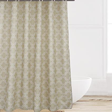 Beau Eforcurtain Long Size 72 X 84 Inch Polyester Khaki Shower Curtain Water  Repellent Mold Resistant,