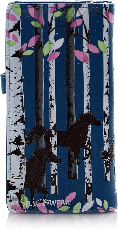 Shagwear Forest Horse Large Zipper Womens Wallet