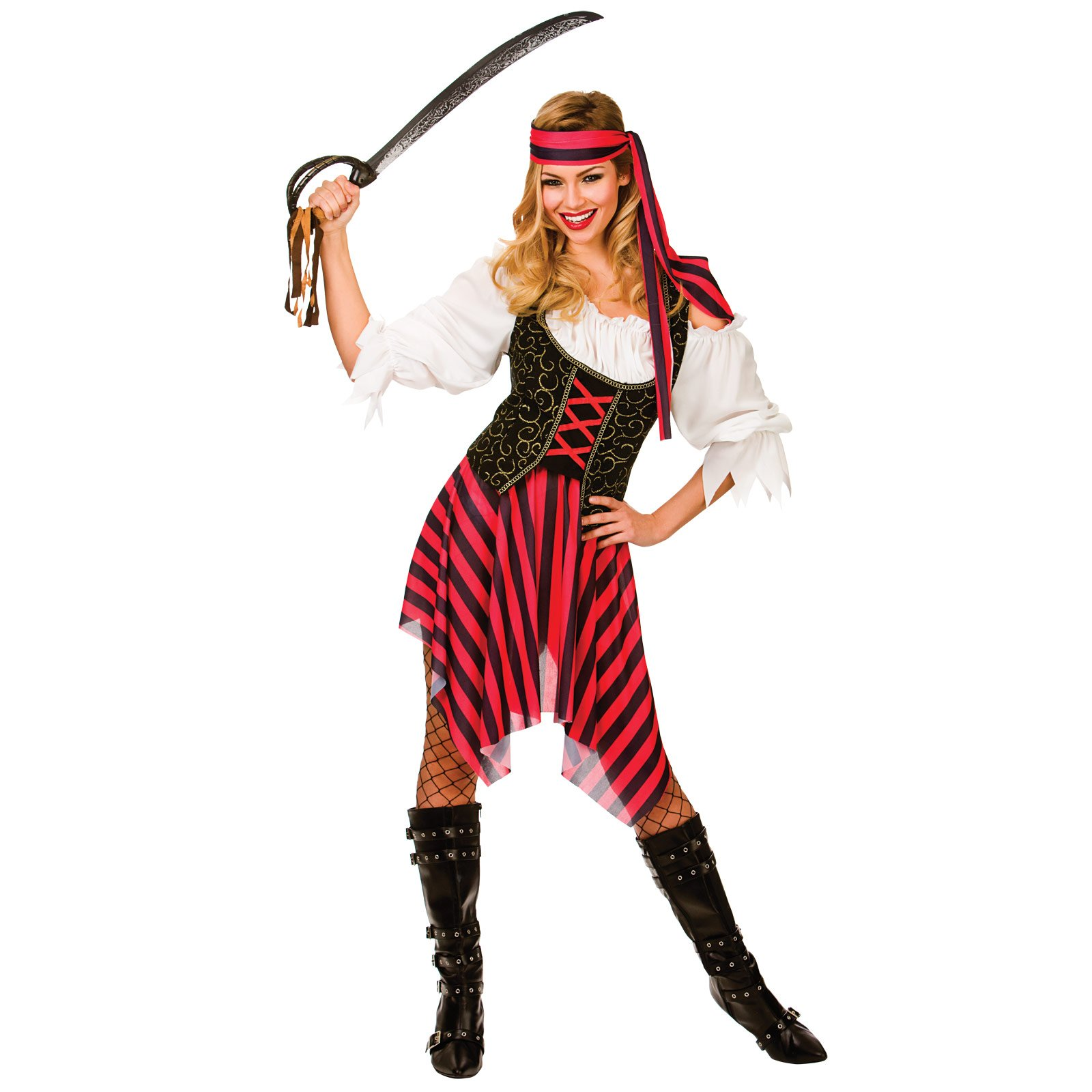 Ladies High Seas Pirate Halloween Ship Fancy Dress Up Party Costume Outfit New  sc 1 st  Amazon UK & Sea Costumes: Amazon.co.uk