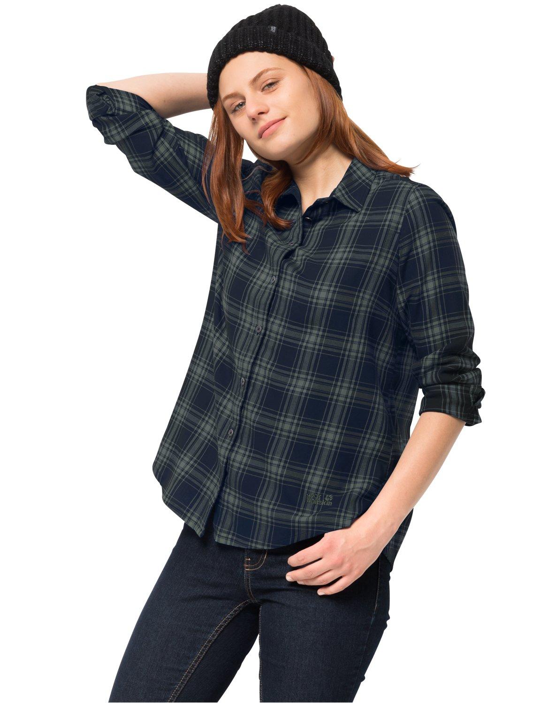 Jack Wolfskin Damen Arendal Shirt Karobluse Freizeitbluse Bluse Jack Wolfskin (JACM8)