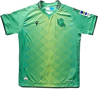 Macron Real Sociedad Segunda Equipación 2019-2020 Niño, Camiseta, Green: Amazon.es: Deportes y aire libre
