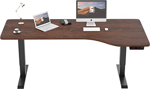 SMAGREHO Large L-Shaped Electric Standing Desk Height Adjustable