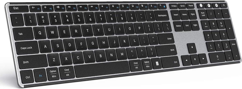 Bluetooth Keyboard for Mac OS & Windows, seenda Multi-Device Ultra Slim Rechargeable Wireless Keyboard for Apple MacBook Pro/Air, iMac, iPad, iPhone, Windows 7/8/10, Laptop, Android