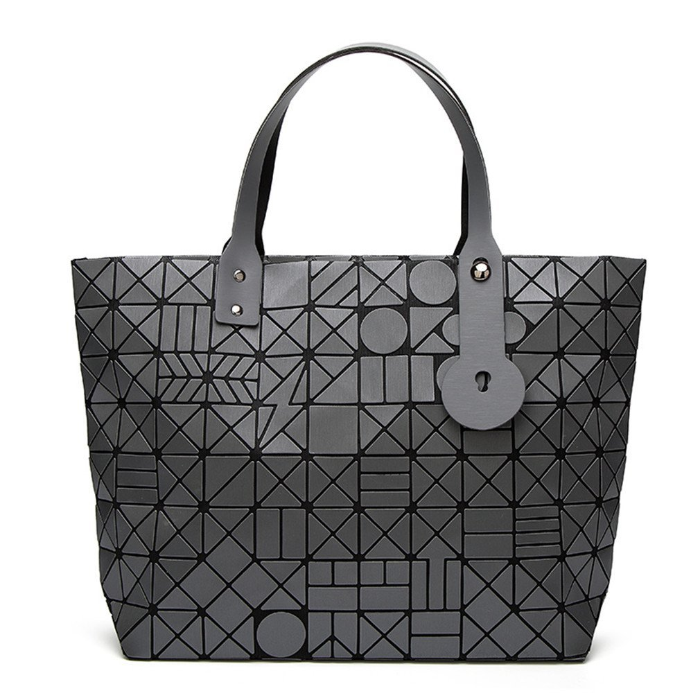 Geometry Diamond Shoulder Bags Lattice Fold Bao Handbags Ladies Matte Totes Coffee