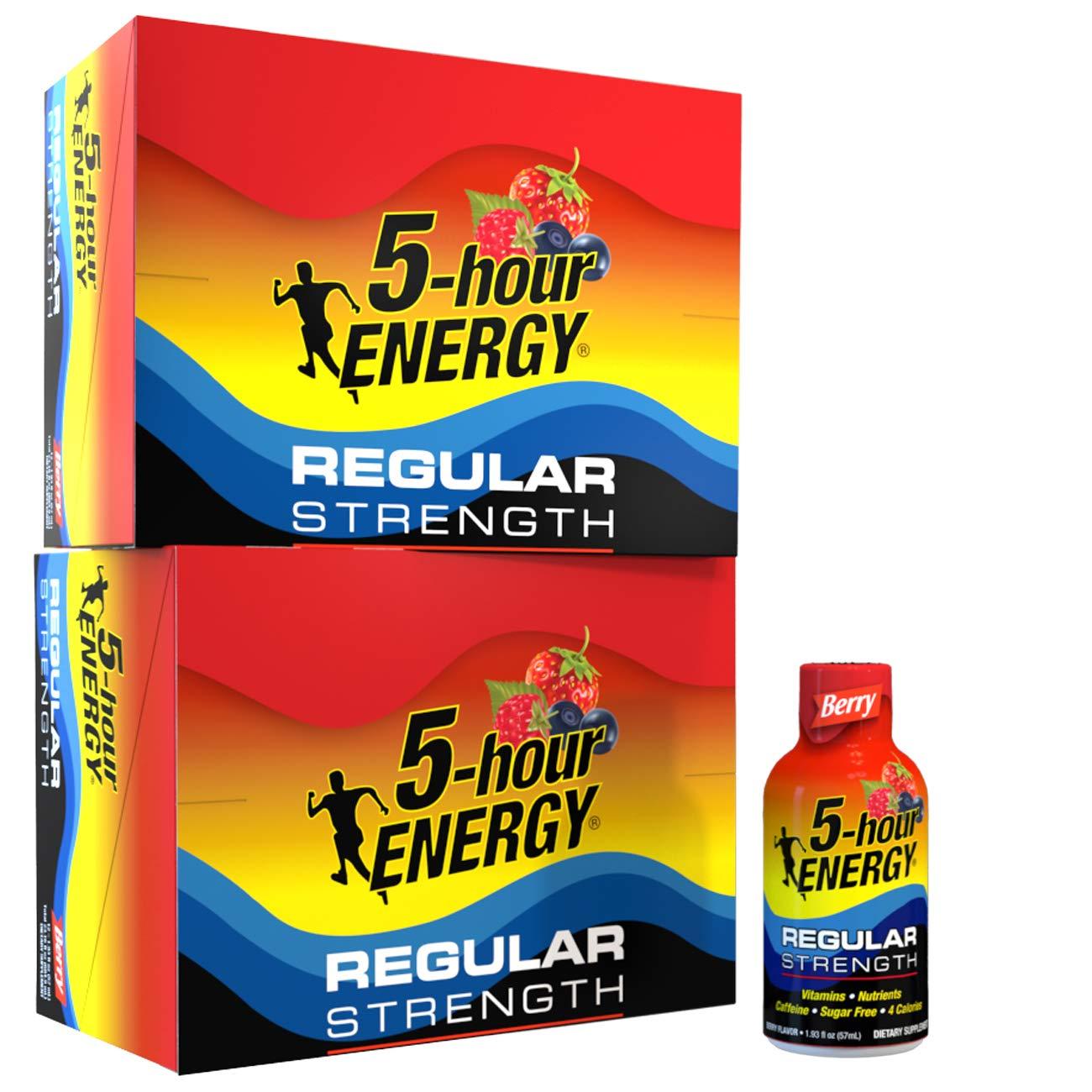 5-hour ENERGY Shot, Regular Strength Berry, 1.93 Ounce, 24 Count