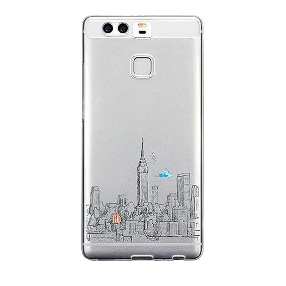 Caler Funda Huawei P9, Carcasa Huawei P9 Case, Suave TPU Gel ...