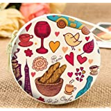 Lifestyle Doodle Zipper Multipurpose Storage Case Headphones Cable Earbuds Wire Storage Box | Jewelry Organizer Protector Pouch Bag | Return Gift | Birthday Gifts