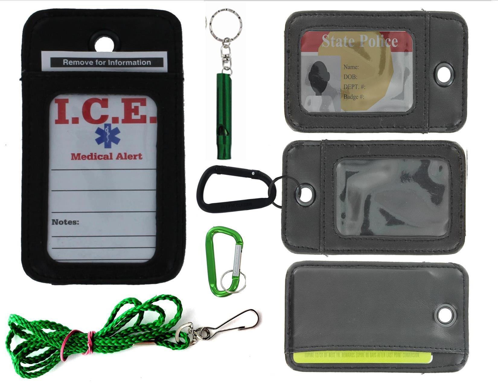 EDOG I.C.E. Active Senior Medical Alert Neck Wallet | Care Giver Locator | Wandering | Dementia | Alzheimers | Disabled | I.C.E. Cards | Leather | Emergency Contacts | Medical Conditions | Medication