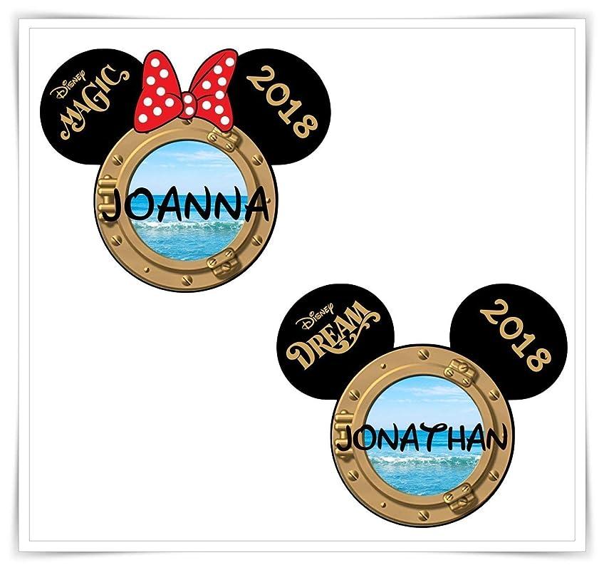 Porthole Magnet For Disney Cruise Door. PERSONALIZED Disney Inspired Porthole Disney Cruise Magnet