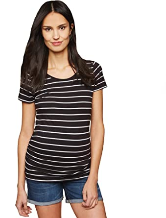 b20d131721cce Motherhood Maternity Women's Maternity Baby Roll Hem Secret Fit Belly Denim  Short at Amazon Women's Clothing store: