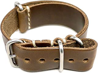 product image for DaLuca Military Watch Strap - Natural Chromexcel (Matte Buckle) : 24mm
