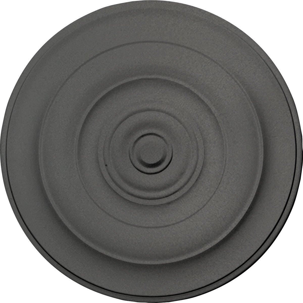 Ekena Millwork CM18NISGS Niobe Ceiling Medallion, 18'' OD x 1 1/2'' P, Steel Gray