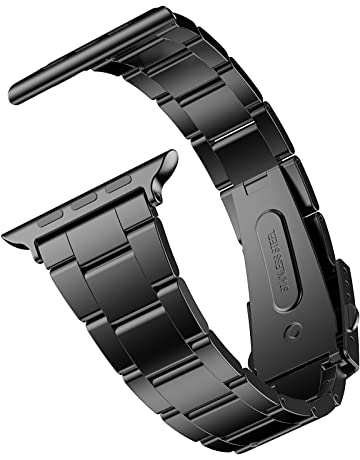 JETech Correa Reemplazable para Apple Watch 42mm y 44mm Series 1 2 3 4, Acero