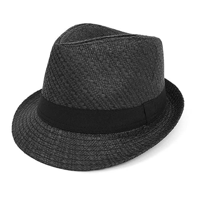 Image Unavailable. Image not available for. Color  Men   Women Summer Short  Brim Fedora Hat a16b904ef7f9