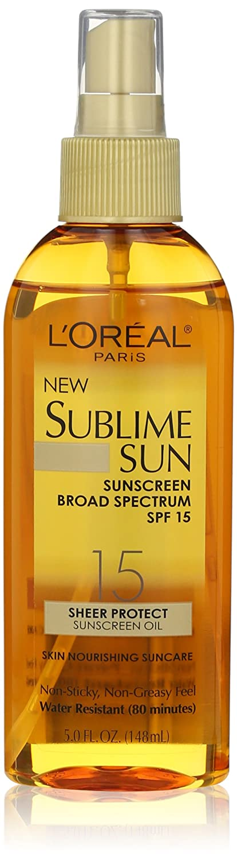 L'Oreal Paris Sublime Sun Advanced Sunscreen Oil Spray SPF 15, 5.0 Ounce L' Oreal Paris Skin Care