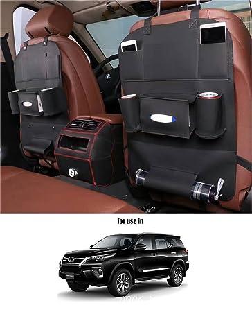11e49c57cab Volga Leatherette 3D Car Seat Organizer Black One Pc For Toyota ...