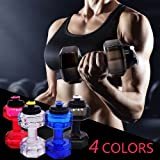 2.2l Large Sports Water Bottle Tank Jug Container Hydrate Drinking Bottle by Shineshin Resin Fitness BPA Free Leakproof with Easy Carry Handle for Bodybuilding Outdoor Sports Gym Workout Hiking & Office