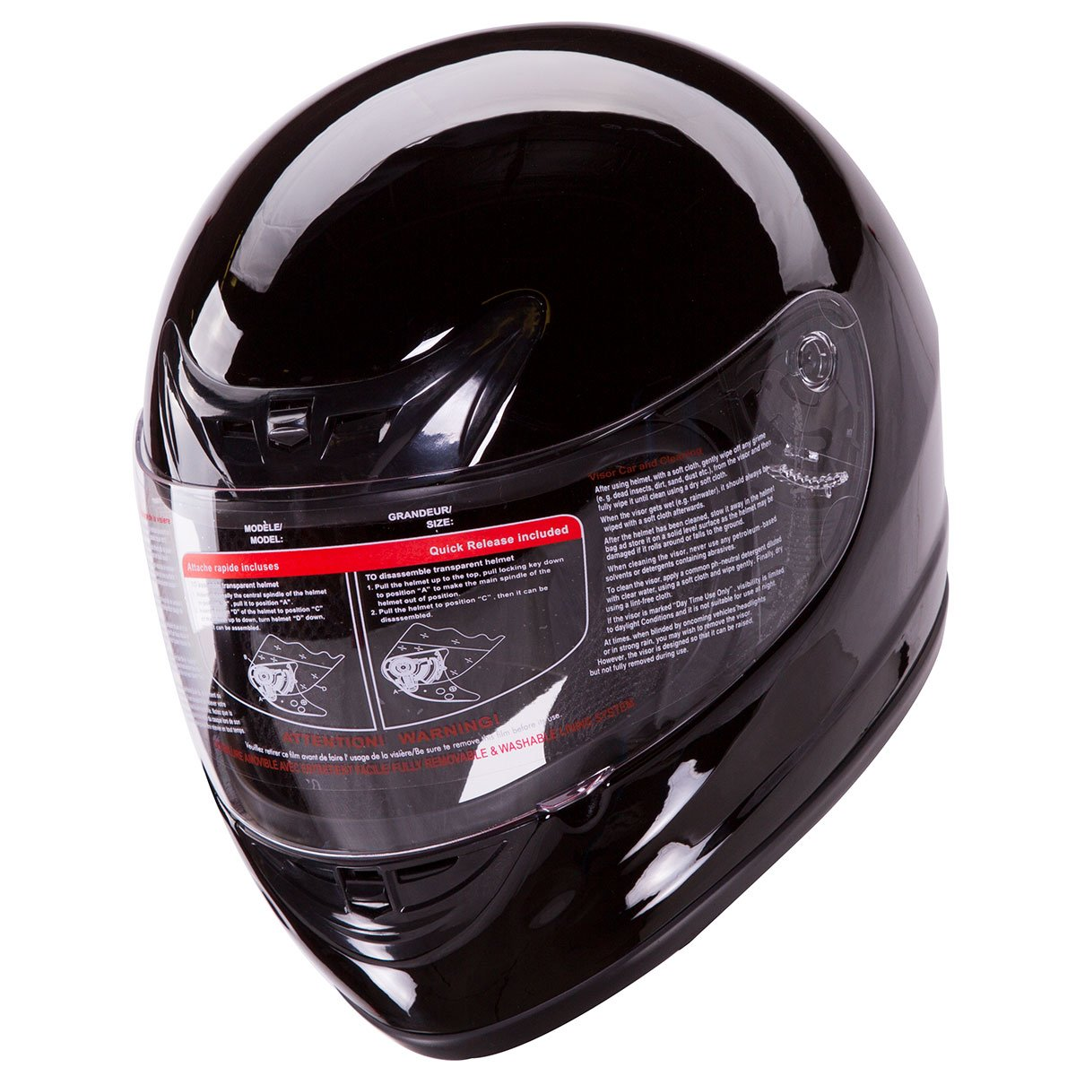 Amazon.es: 901-bk-pl brillo negro Full Face casco de moto, diseño de lunares + 2 visor