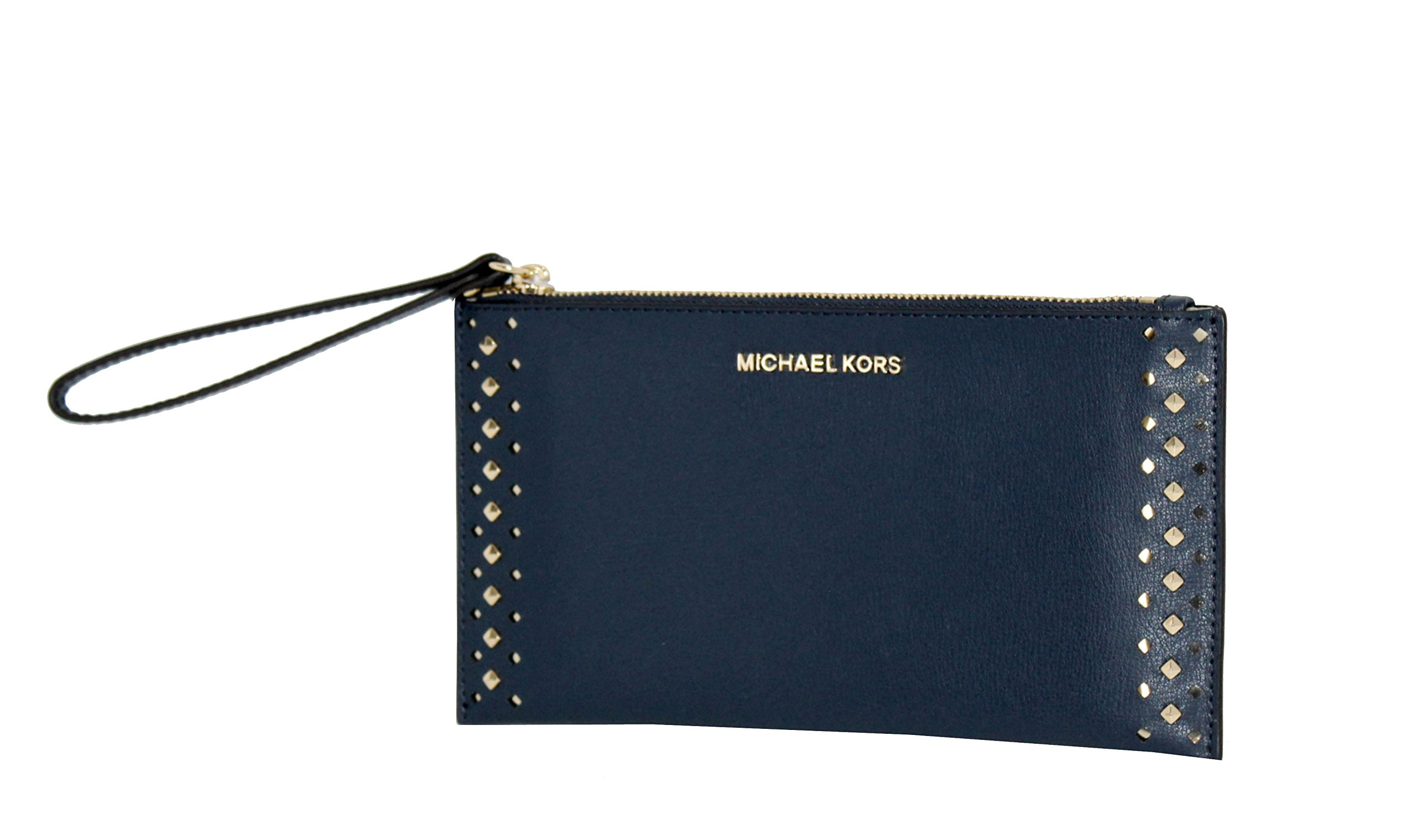MICHAEL Michael Kors Women's Jet Set Travel Leather Zip Clutch (Navy)