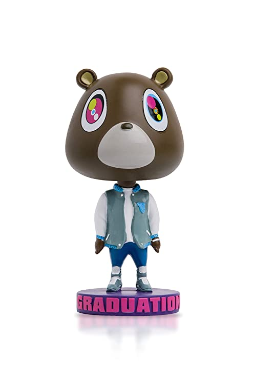 1a0f1855 Amazon.com: The Graduation Bear Bobblehead - Kanye West College Dropout Bear:  Toys & Games