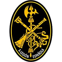 Artimagen Pegatina Oval Logo Legión Amarillo 80x60 mm.