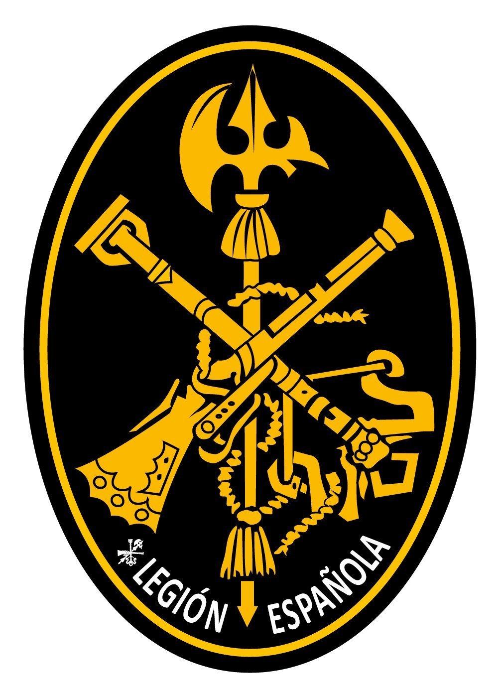 Artimagen Pegatina Oval Logo Legió n Amarillo 80x60 mm. Ediciones Imagina S.L.