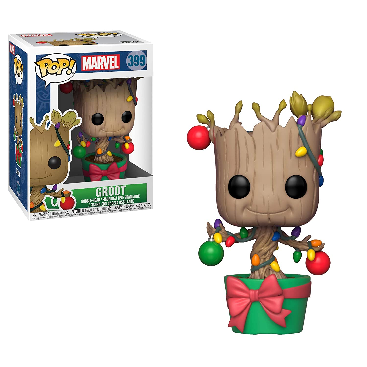 Christmas Groot Funko Pop.Funko Pop Marvel Holiday Guardians Of The Galaxy Groot Collectible Figure Multicolor